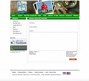 Honey Hole Contact Page
